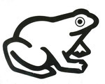 Frog Logo 1, 1980. 10 x 12 in. Stat camera. #80PM017D