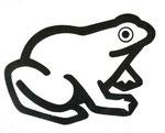 Frog Logo 1, 1980. 10 x 12 in. Stat camera. #80PM017D