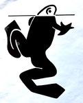 Frog Logo 2, 1980. 10 x 12 in. Stat camera. #80PM018D