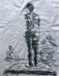 New Bedford Life Drawing, 2012. 18 x 23.5 in. Charcoal on paper. #12D028SL