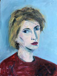Linda Portrait #2, 1982. 18 x 24 in. Oil paint on MDF. #82PA015P