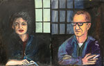 Ginny and Jim, 1990. 44 x 56 in. Oil paint on canvas. #90PA089P