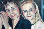 Nicole and Christine, 2005. 35.5 x 23.5 in. Acrylic on canvas. #05PA068P