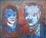 Ginny and Bob, 1997. 21.5 x 17.5 in. Oil on canvas. #97PA065P