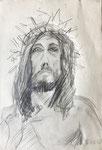 Jesus, 1980. 12 x 17.5 in. Pencil on paper. #80D001P