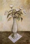 WHITE FLOWERS - Oil on canvas - 65x45cm - 2019