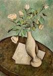 WHITE FLOWERS II - Oil on canvas - 65x45cm - 2019