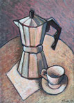 COFFEEMAKER - Oil on canvas - 46x33cm - 2019