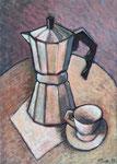 COFFEEMAKER - Oil on canvas - 46x33cm - 2019