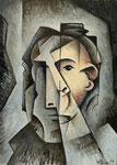 HEAD OF MEN III - Oil on canvas - 46x33cm - 2019