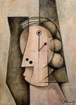 HEAD OF WOMAN II - Oil on canvas - 46x33cm - 2019