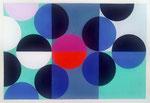 Quadratur des Kreises n°11, 2015, 30 x 40 cm, Vinyl auf Bütten
