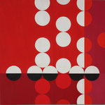 Quadratur des Kreises n°20, 2015, Holz, 40 x 40 x 2 cm