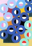 Quadratur des Kreises n°22, Vinyl auf Bütten, 25 x 35 cm