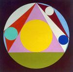 Sangaku_12, 2015,  Vinyl auf Bütten, 30 x 30 cm