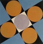 Frank Lloyd Wright visiting Japane, Sangaku_6, Vinyl auf Aquarellkarton, 2015, 30 x 30 cm