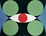 Frank Lloyd Wright visiting Japane,Sangaku_07, Vinyl auf Aquarellkarton, 2015, 30 x 40 cm