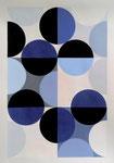 Quadratur des Kreises n°1, 50 x 70 cm