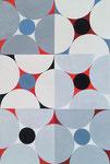Quadratur des Kreises n°9, Vinyl auf Papier, 30 x 40 cm