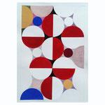 Quadratur des Kreises n°10, 2015, 30 x 40 cm