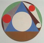 Sangaku_16, 2016, Vinyl auf Hartfaser, Durchmesser 24 cm