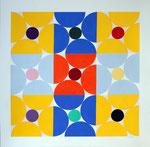 Quadratur des Kreises n°15, Vinyl auf 400gr. Papier70 x 70 cm