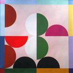 Quadratur des Kreises n°26, 2017, 70 x 70 cm, Vinyl auf 400gr/qm FABRIANO-Papier
