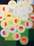 Quadratur des Kreises n°7,  Vinyl auf Papier, 31 x 41 cm
