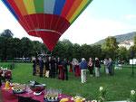 Ballon-Taufe bei Ballooning 2000 Baden-Baden am 28.08.2013 am Kurhaus Baden-Baden