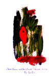 """""""Dürrer Baum nach dem Schnitt"""" / Werkverzeichnis 3.296 / datiert Wiesmoor, 14.12.00 / diverse Farben und Tusche auf Papier / Maße b 29,7 cm * h 42,0 cm"""