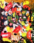 """""""ich? wo?"""", Gestringen, im Jahre 1988, Werkverzeichnis 12, Ölfarbe auf Leinwand, b 40,0 cm x h 50,0 cm"""