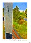 """""""o. T. 1/1"""" - 10 - Werkverzeichnis 2.157 / datiert 14.07.99 / Fotoveränderung als Tintenstrahldruck und Filzstift auf Papier / Maße b 10,5 cm * h 15,0 cm"""