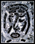 """""""Feister Pfaffe denkt nach"""" Gestringen, den 23.09.1987, Werkverzeichnis 84, Ölfarben auf Leinwand, b 40,0 cm x h 50,0 cm"""