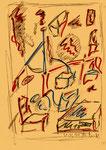 """Serie von 10 Arbeiten - 6 v. 10 - """"Versuche in Bergisch-Gladbach"""" 30.03.1994, Werkverzeichnis 404, Filz- und Bleistift auf Papier, b 21,0 cm * h 29,0 cm"""