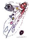 """""""o. T."""" 8, WVZ 960 / datiert 21.03.1996 / Filzstift und Grafit auf Papier / b 30,0 cm * 40,0 cm"""