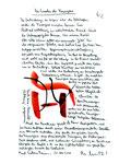 """Serie v. 10 Arbeiten (W1-W10). Allesamt in Besitz des Landes NRW. Hier Arbeit W2: """"Das Erwachen der Feuergene"""" WVZ 2.912 / 21.04.00 / Filzstift auf Papier Maße 21,0 cm * h 29,7 cm"""