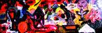 """""""Erhaltet unsere Schulen"""" Gestringen, 10.02.1988, Werkverzeichnis 101, Ölfarben auf Spanplatte, b 96,7 cm x h 35,0 cm"""