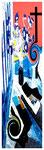 """""""Kokade III"""" / Werkverzeichnis 2.221 / datiert 24.07.99 / Fotoveränderung von Öfen als Tintenstrahldruck auf Papier / Maße b 42,0 cm * h 59,4 cm"""