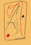 """Serie von 10 Arbeiten - 2 v. 10 - """"Versuche in Bergisch-Gladbach"""" 30.03.1994, Werkverzeichnis 400, diverse Farben und Bleistift auf Papier, b 21,0 cm * h 29,0 cm"""