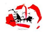 """""""Sarajevo III"""" Werkverzeichnis 450. Datiert 95. Öl- und Binderfarbe auf Papier. Größe b 42,0 cm * h 59,4 cm."""