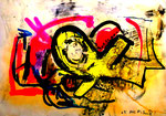 """""""o. T."""" 1995 / Werkverzeichnis 457 Diverse Farben u. Lacke auf Papier b 68,0 cm * h 48,0 cm"""