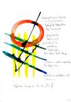 """""""Weiß gibt keine Ausrede"""" / Werkverzeichnis 3.024 / datiert 11.08.2000 / Aquarell, Tusche und Text auf Papier / Maße b 21,0 cm * h 29,7 cm"""