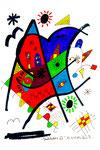 """""""Landschaftern XV"""" Titisee, 13.04.1993 Werkverzeichnis 354 Textilfarbe und Filzstift auf Aquarellpapier b 28,2 cm * h 35,1 cm"""