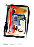 """""""Grenzen der Freiheit!"""" 3 Werkverzeichnis 1.912 / datiert Boddin, 13.02.99 / diverse Farben auf hellbeschem Papier / Maße b 29,7 cm * h 42,0 cm"""