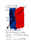 """""""Wanderer der Seele"""" / Torrox, 23.10.2008 / """"Sprechbild"""" mit Text als Original Grafik mit Tusche, Aquarell und Text auf Papier / B 21,0 cm * H 29,7 cm / Werkverzeichnis 3.800"""