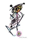 """""""o. T."""" 3, WVZ 955 / datiert 21.03.1996 / Filzstift und Bleistift auf Papier / b 30,0 cm * 40,0 cm"""