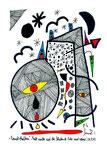 """""""Landschaftern"""" - Fall nieder auf die blutende Erde und weine! - 28.11.1993 Werkverzeichnis 372 Textilfarbe auf Aquarellpapier b 24,0 cm * h 32,0 cm"""