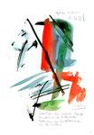 """""""Spätlese"""" / Werkverzeichnis 3.021 / datiert 11.08.2000 / Aquarell, Tusche und Text auf Papier / Maße b 21,0 cm * h 29,7 cm"""