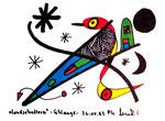"""""""Landschaftern"""" - Schlange - Datiert 26.12.1993 Werkverzeichnis 377 Textilfarbe auf Aquarellpapier b 15,0 cm * h 10,0 cm"""