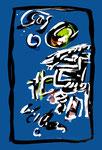 """Serie von 6 Arbeiten: """"Enge 4"""" / WVZ 1.902 / datiert Boddin, 13.02.99 / diverse Farben auf farbigem Papier / Maße jeweils b 29,7 cm * h 42,0 cm"""